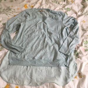 LOFT Mixed Media Light Sweater, M